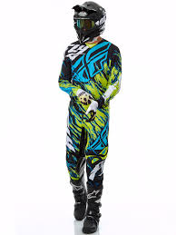 fly racing motocross fly racing lime black blue 2017 kinetic relapse mx pant fly