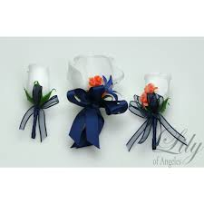 Royal Blue Boutonniere Coral Dark Blue Navy Royal White Bouquets Corsages Boutonnieres