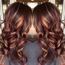kankalone hair colors mahogany plum copper highlights chocolate brown base pinteres