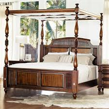 designs tamarind grove banyon canopy bed set in honey king