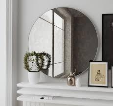 Frameless Bathroom Mirror Large Impressive Large Frameless Wall Mirrors Uk Frameless Full Length
