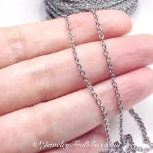 feet to meters fine stainless steel chain bulk jewelry making supplies