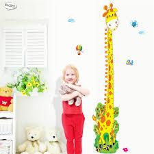 Giraffe Nursery Decor Giraffe Height Chart Measurement Wall Stickers Baby
