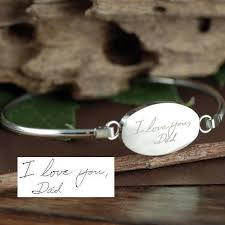 Personalized Engraved Bracelets Custom Handwriting Jewelry Memorial Bracelet Actual Handwriting