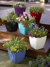 patio flower pots decorating idea inexpensive classy simple with