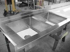 stainless steel countertop with sink stainless steel sink countertop integrated befon for