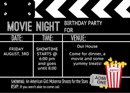 movie themed invitation template free reference template