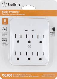 Luxury Power Outlets Amazon Com Belkin 6 Outlet Wall Mount Surge Protector 900 Joules