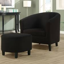accent chair with foot rest wayfair