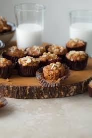 mini applesauce carrot cake muffins gluten free paleo