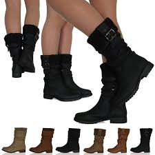 womens boots mid calf womens low heel flat sock slouch boots zip up mid calf