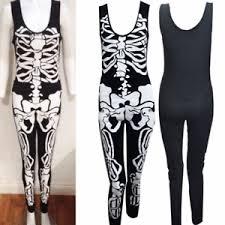 womens skeleton jumpsuit womens sleeveless skeleton print jumpsuit