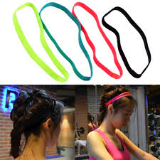 sports hair bands sports headband anti slip elastic rubber sweatband 4 90 item