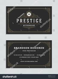 business card vintage ornament style luxury stock vector 687250636