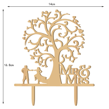 wedding tree mr mrs wedding cake toppers wedding tree wood cake decorations