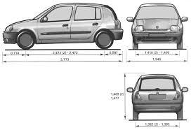 2000 renault clio hatchback blueprints free outlines