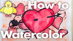 watercolor wednesday 1 tutorial super hero hearts beginner