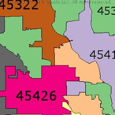 dayton map dayton ohio zip code boundary map oh