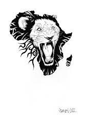 tattoo design lion african lion tattoo design by drone one on deviantart