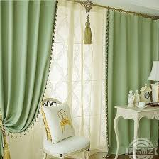 livingroom curtain concise green print blackout heat insulation living room curtain
