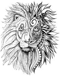 lion print lion print zentangle art lion drawing art prints black and