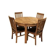 glasswells royale round dining table and 4 bicast leather dining