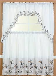 Kitchen Curtains Swags by Kitchen Curtains Set Amazon Com