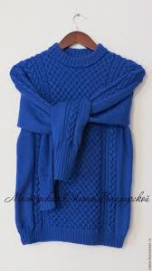 knitted sweater s knitted sweater royal blue shop on livemaster