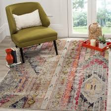 7 X 7 Area Rugs The Curated Nomad Bernal Distressed Bohemian Rug 6 7 X 9 2