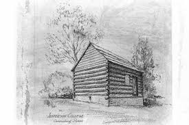 log cabin drawings explorepahistory com image