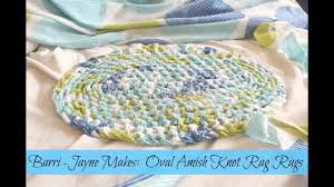 Crochet Oval Rag Rug Pattern How To Make An Oval Amish Knot Toothbrush Rag Rug Tutorial