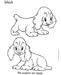 coloring pages puppy dog sheets print color pictures