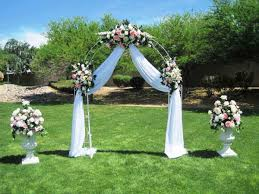 Wedding Arches Decorated With Tulle Tulle Decorations For The Wedding U2013 Windowsofmemories Com
