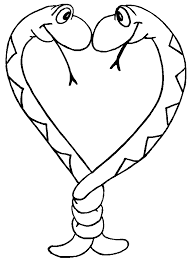 coloring pages of a heart coloring pictures of snakes coloring home