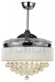 Modern Ceiling Lights Dimmable Modern Crystal Ceiling Fans Led Foldable Blades And