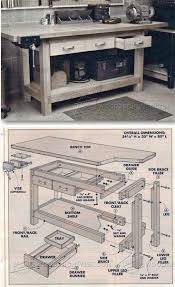 Easy Wood Workbench Plans by 1143 Best Workbench Images On Pinterest Woodwork Work Benches