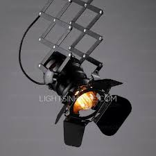 Retractable Light Fixtures Industrial Adjustable Shade Black Retractable Ceiling Lights