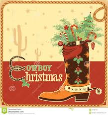 cowboy card with text and boot royalty free stock photos