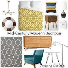 Mid Century Modern Bedroom by Decorating Cents Mid Century Modern Bedroom Living Room Decor