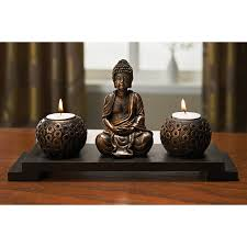 small tea light candles buddha candle gift set with pebbles home living online shopping