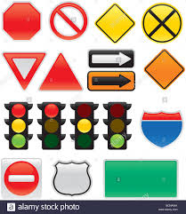 Interstate Map A Collection Of Vector Traffic Signs And Map Symbols Stop Yield