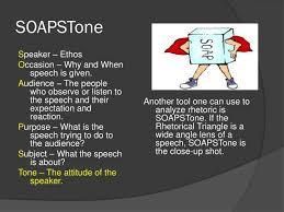 Soapstone Analysis Example Ppt Tools For Analyzing Rhetoric The Rhetorical Triangle And