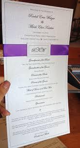 Winter Wedding Programs Wedding Programs Emily U0027s Enchantments