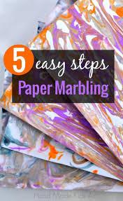 easy way to diy paper marbling paper marbling diy paper and