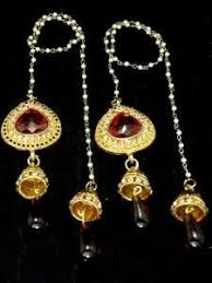 latkan earrings girly fashion accessories kashmiri earrings with latkans