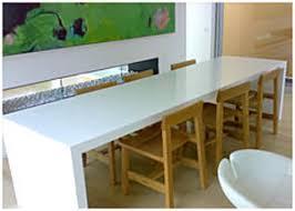 Shutters - Corian kitchen table