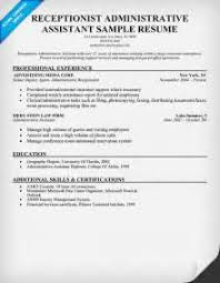 Resume Best Sample by Sample Resumes For Receptionist Admin Positions Church
