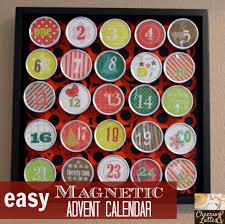 easy magnetic advent calendar christmas inspiration pinterest