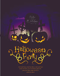 halloween posters beautiful background 04 vector free vector 4vector