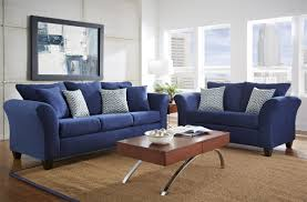 Living Room Pieces Elegant Living Room Area With 4 Pieces Blue White Diamond Stencil